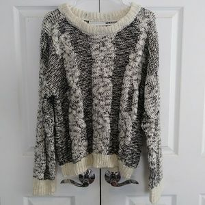 JOA oversized cable knit sweater